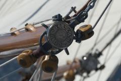Eileen - 12mCr classic sailing yacht - outhaul