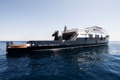 Mystere Shadow - 50m shadow yacht refit - aft view