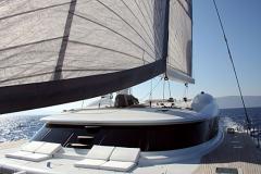 Allures - performance cruising catamaran - fwd sunbed