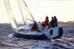 Cafe30 - cruising sailboat - aft sailing