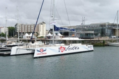 Juanita Cat - day charter catamaran - dock