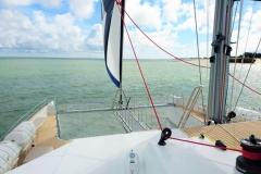 Juanita Cat - day charter catamaran - foredeck
