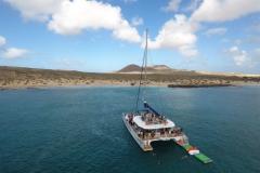 Juanita Cat - day charter catamaran - mooring aft