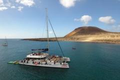 Juanita Cat - day charter catamaran - mooring canary island