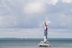 Juanita Cat - day charter catamaran - sail front