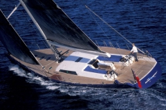 Magic Blue - performance sailing yacht - helm alone
