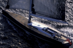 Magic Blue - performance sailing yacht - sail shadow