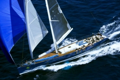 Magic Blue - performance sailing yacht - staysail