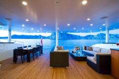 MashuaBluu - sailing catamaran - aft lounge