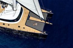 MashuaBluu - sailing catamaran - sails