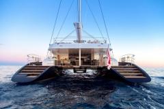 MashuaBluu - sailing catamaran - transom