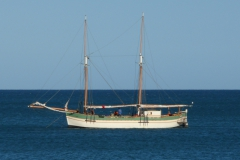 Nofy Be - traditional gaffed rig schooner - profile