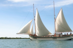 Nofy Be - traditional gaffed rig schooner - sailing