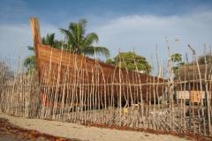 Nofy Be - traditional gaffed rig schooner - shipyard