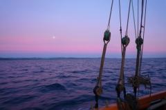 Nofy Be - traditional gaffed rig schooner - sunset