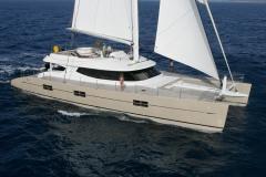 Rafoly - sailing catamaran - sail upwind