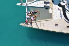 Rafoly - sailing catamaran - trampoline