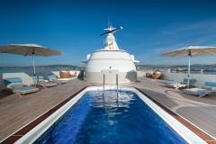 Reborn - motor yacht refit - pool