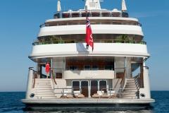 Reborn - motor yacht refit - stern