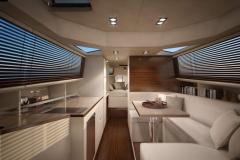 Turbocraft Silverfin - pocket explorer yacht - interiors