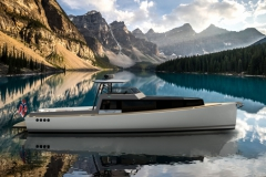 Turbocraft Silverfin - pocket explorer yacht - moraine lake