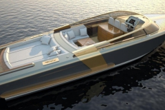 Turbocraft Thunderclap -luxury dayboat tender - sunset