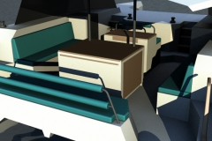 TR36-day charter catamaran cockpit